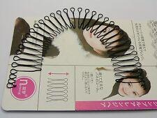 5 Pcs Black Fringe Invisible Hair Clip Comb Hairpin Bobby Pin Headband 20cm