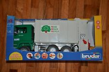Bruder MAN Toy Green Garbage Truck Rear Loading Recycling Truck (#2764)