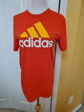 Adidas Trefoil Ultimate Tee Size XL (18) Youth Graphic Orange T Shirt.