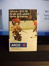 Los Angeles Kings / Lakers Vintage Pocket Schedule NHL NBA 1975-76 FREE SHIP