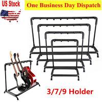 Guitar Rack Stand Multi-Instrument Floor Stand Rack Holder Holds 3/7/9 GUITARS