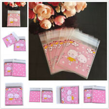Self-Adhesive Cartoon Gift Bag Cookie Candy Cellophane Packaging Bags JD