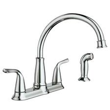 MOEN Brecklyn 2-Handle Standard Kitchen Faucet with Side Sprayer in Chrome