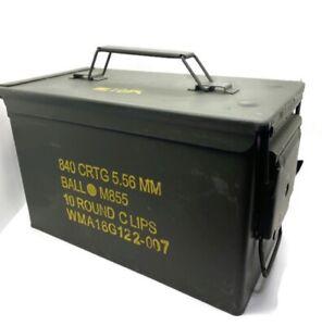 US Military surplus ammo ammunition can box M2A1 M2A2 .50 cal 50 caliber