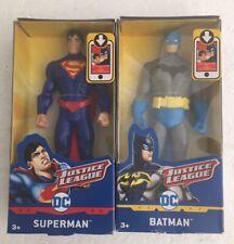 """2 DC Comics Justice League Superman & Batman Action Figures 6"""""""