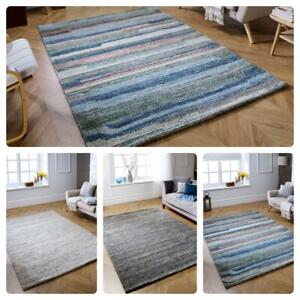 MODERN AREA HANDLOOMED WOOL RUGS SMALL LARGE  THICK QUALITY FLOOR CARPET MATS