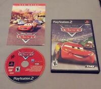 Disney Pixar Cars (Sony PlayStation 2, PS2, 2006) With DVD Guide Pamphlet