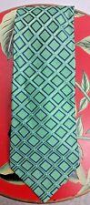 Tommy Hilfiger Men's Tie New 100% Silk Casual Geometric Green Blue Triangle