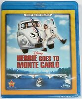 Herbie Goes to Monte Carlo Blu-ray *RARE* DMC Disney Movie Club Exclusive NEW