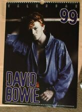 "1999 David Bowie poster UK Calendar photographs 11¾""x16""  Bette Rare! Vintage"
