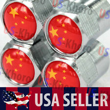 China Flag Logo Valves Stems Caps Covers Chromed Wheel Roundel Tire Emblem USA