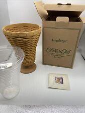 New Listing2003 Longaberger Collectors Club Edition Floral Vase Basket With Plastic Liner