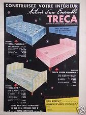 PUBLICITÉ 1956 TRÉCA MATELAS ET SOMMIER SUPER PULLMAN TRECARITZ - ADVERTISING