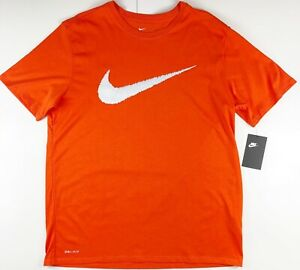 Nike Sportswear Orange Swoosh Graphic T-Shirt DC8461-820 XL
