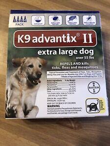 K9 Advantix II Extra Large Dog Repels & Kills Ticks & Fleas 4 Months - 55 lbs