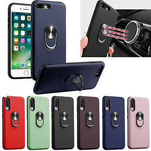 Outdoor Shockproof Armor Magnet 360°Ring Stand Support Soft +PC Case Lot Cover 1