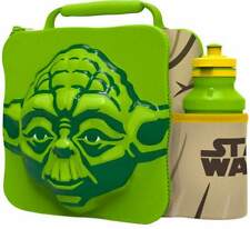 YODA Insulated 3D Lunch Bag Box And Drink Sport Water Bottle Set