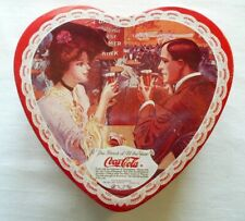 Coca-Cola Valentine's Day Heart Tin Red 1993 The Drink of All the Year Ad