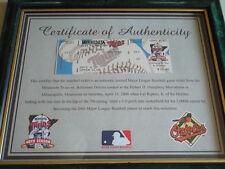 Cal Ripken Jr Unused 3000 Career Hit Ticket w Twins COA Baltimore Orioles Framed