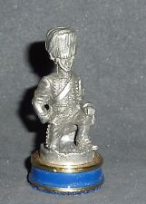 FRANKLIN MINT WATERLOO CHESS PIECE Horse Chasseurs   (PAWN ) PEWTER