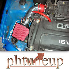 RED 2004-2008 CHEVY AVEO 1.6 1.6L BASE LS LT 4-DR  AIR INTAKE KIT +  FILTER