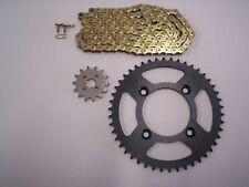 HONDA XR80R NEW SPROCKET & GOLD CHAIN SET 14/46  85 - 03 STK GEAR RATIO
