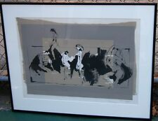 """Gino Hollander Signed & Dated & Dedicated Original Lithograph 1979 """"Orgy"""""""