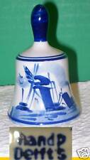 Small DELFT HOLLAND Blue-White Windmill design Bell