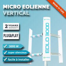 Micro generateur éolienne axe vertical EOLO 3000W maison toit jardin énergie 3KW