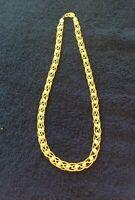 "Vintage Avon Necklace 16"" Long Gold Tone Woven Chain Faux Pearl"