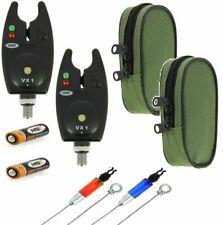 2 x  Electronic Carp Fishing Bite Alarms & Bobbins ,Indicators For Rod Pod