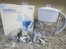 NEW WELLBLUE ALKALINE WATER FILTER PITCHER 3.5L *WHITE* WITH 3 FILTERS INCLUDED