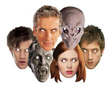 Doctor Who Variety Six Pack CARD Masks Dr Who Amy Rory Silent Weeping Angel