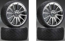 THS Racing THSC70H-CS Hard Mounted Tires / Wheels (4) 1/8 Car 17mm