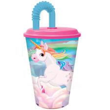 EINHORN - Unicorn - Trinkbecher - Flasche - Becher - mit Strohhalm - 430ml