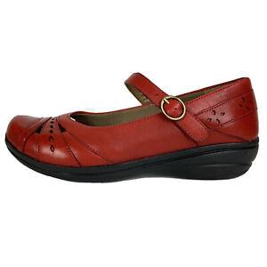 """Dansko Mathilda Red Leather Mary Jane Women's EUR 39 Shoes 1"""" Low Heel Hook Eye"""