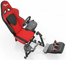 Openwheeler Racing Wheel Stand Cockpit Red/Black | For Logitech G29 | G920 and |