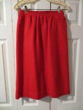 70's Vintage Evan Picone Red Wool Atomic Knit Classy Casual Aline Skirt 10