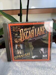 Who Is Oscar Lake? Spanish Language Learning Adventure Beginner Level PC CD 1996