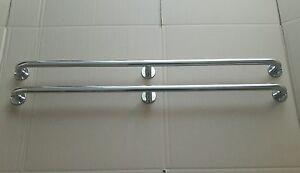 Pair of stainless steel 750mm marine grade 316 boat grab rails/handles 22mm.