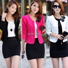 New Lady's Women's Fashion Korea Candy Color Slim Suit Blazer Coat Jacket M-3XL