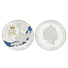Silver Plated Queen's 90th Birthday Commemorative Coin Collectible Cool Gifts