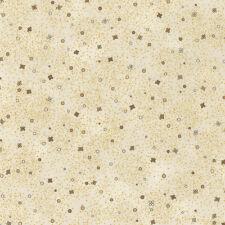 Robert Kaufman Patchwork Fabric Lumina Dots Natural With Metallic - Per 1/4 M...