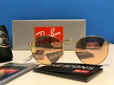 Brand New In box Ray-ban rb3447 Round Gold Metal Frame Pink Lens 50mm Sunglasses