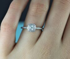 $7,500 Tiffany & Co 0.48ct Legacy Platinum Cushion Diamond Engagement Ring Band