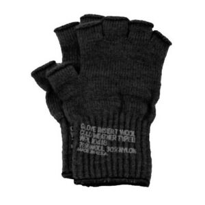 Genuine Issue Fingerless Glove Liner with Stamp, One Size