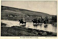 1914 Kampf in Galizien * Der russische Großfürst Michael mit Gefolge *  WW1