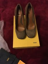 Fendi Shoes brown suede