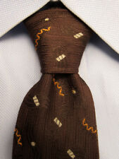 Men's VINTAGE Brown Silk Skinny Tie A26317
