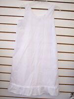Infant, Toddler, & Girls White Cotton Blend Slip Sizes 6 Months - 14
